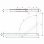 JSMC09 Soporte estante plegable