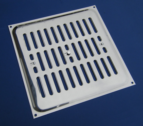 Acero inoxidable rejillas de ventilaci n s lo inox - Rejilla de ventilacion regulable ...